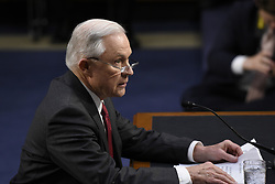 June 13, 2017 - Washington, District of Columbia, U.S.- Attorney General JEFF SESSIONS testifies at a U.S. Senate Intelligence Committee hearing on Russian interference with U.S. elections. (Credit Image: © Sait Serkan Gurbuz/Depo Photos via ZUMA Wire)