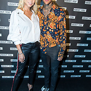 NLD/Amsterdam/20171009 - opening webshop About You, zwangere Rose Bertram en partner Gregory van der Wiel