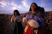 Shepherdesses of Amantani Island, Lake Titicaca, Peru