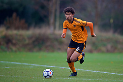 WOLVERHAMPTON, ENGLAND - Tuesday, December 19, 2017: Wolverhampton Wanderer's Dion Sanderson during an Under-18 FA Premier League match between Wolverhampton Wanderers and Liverpool FC at the Sir Jack Hayward Training Ground. (Pic by David Rawcliffe/Propaganda)