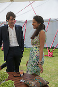 KONSTANTIN VON BISMARCK; SALONI LODHA, Cartier Queen's Cup. Guards Polo Club, Windsor Great Park. 17 June 2012