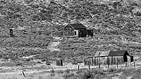 Old Buildings in Bodie Ghost Town. Image taken with a Nikon D300 camera and 200 mm f/2 lens.