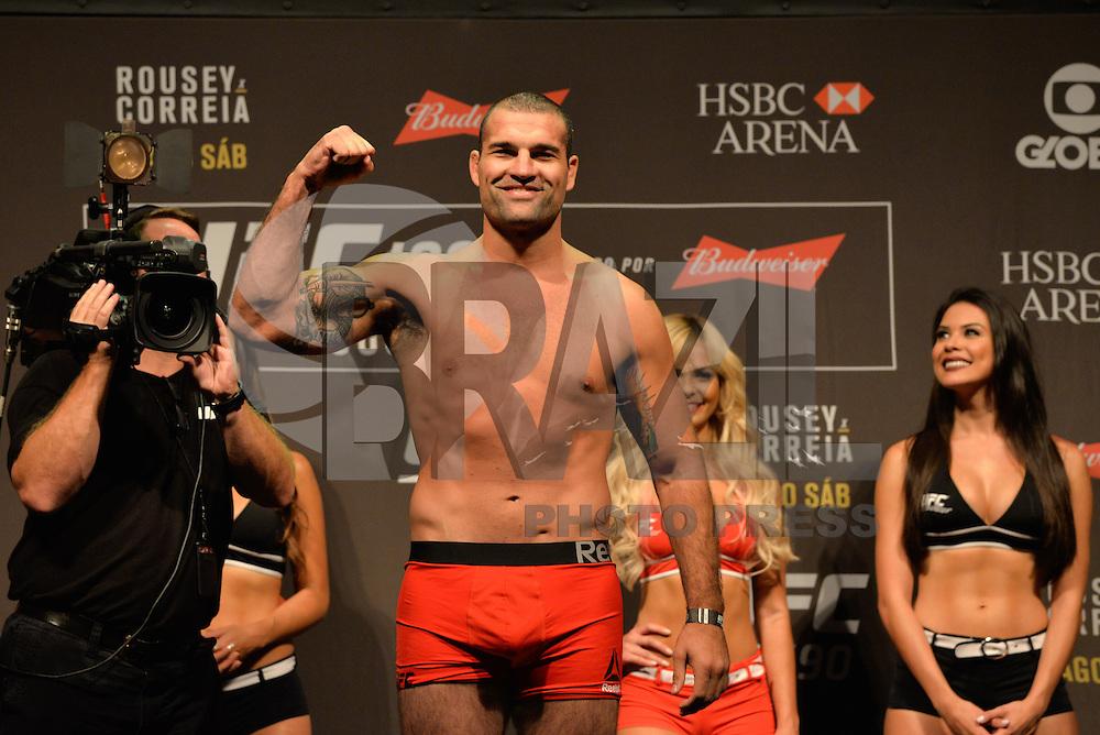 RIO DE JANEIRO, RJ, 31.07.2015 - UFC-RJ - O lutador Maurício Shogun Rua durante a pesagem do UFC 190: Rousey vs. Correia, na HSBC Arena, na zona oeste, nesta sexta-feira (31). (Foto: João Mattos / Brazil Photo Press)