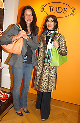 """Left to right, TRICIA SIMONON and BELLA FREUD at a book signing hosted by Tod's for Dante Ferretti's new book 'The Art of Production Design"""" held at the Tod's store, 2/3 Old Bond Street, London on 19th April 2005.<br /><br />NON EXCLUSIVE - WORLD RIGHTS"""
