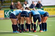 NIJMEGEN - 2017 Hoofdklasse dames<br /> Nijmegen v Hurley<br /> Foto: Nijmegen huddle. <br /> WORLDSPORTPICS COPYRIGHT FRANK UIJLENBROEK