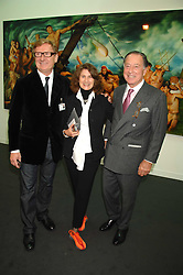 Left to right, art dealer RAFAEL JABLONKA and JOHN & JILL RITBLAT at the opening of Frieze Art Fair 2007 held in regent's Park, London on 10th October 2007.<br />