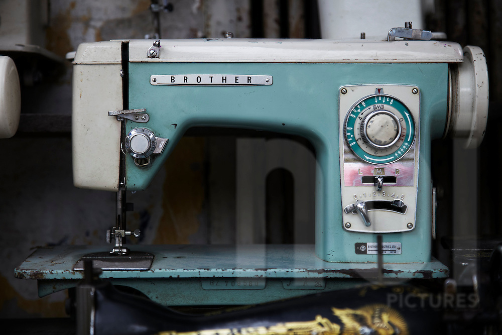 Second hard sewing machine in a repair shop