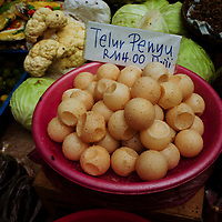 Turtle eggs for sale inside Pasar Siti Khadijah (Kota Bharu Central Market) where many goods are sold.<br /> Its the famous shopping destination in Kota Bharu.