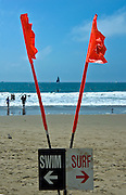 Lifeguard, Swim, Surf Sign, Santa Monica, CA, USA,