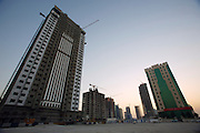New skyscrapers along the Western Corniche under construction.
