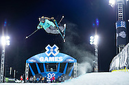 Maddie Bowman during Superpipe Practice at the 2016 X Games Aspen in Aspen, CO. ©Brett Wilhelm/ESPN