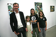 KEITH COVENTRY, ANNA, JAMES AND EDWARD, Beyond Belief-Damien Hirst. White Cube Hoxton and Mason's Yard.Party  afterwards at the Dorchester. Park Lane. 2 June 2007.  -DO NOT ARCHIVE-© Copyright Photograph by Dafydd Jones. 248 Clapham Rd. London SW9 0PZ. Tel 0207 820 0771. www.dafjones.com.