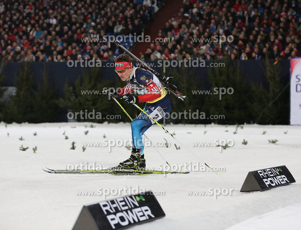28.12.2013, Veltins Arena, Gelsenkirchen, GER, IBU Biathlon, Biathlon World Team Challenge 2013, im Bild Maxim Tchoudov (Russland / Russia) // during the IBU Biathlon World Team Challenge 2013 at the Veltins Arena in Gelsenkirchen, Germany on 2013/12/28. EXPA Pictures &copy; 2013, PhotoCredit: EXPA/ Eibner-Pressefoto/ Schueler<br /> <br /> *****ATTENTION - OUT of GER*****