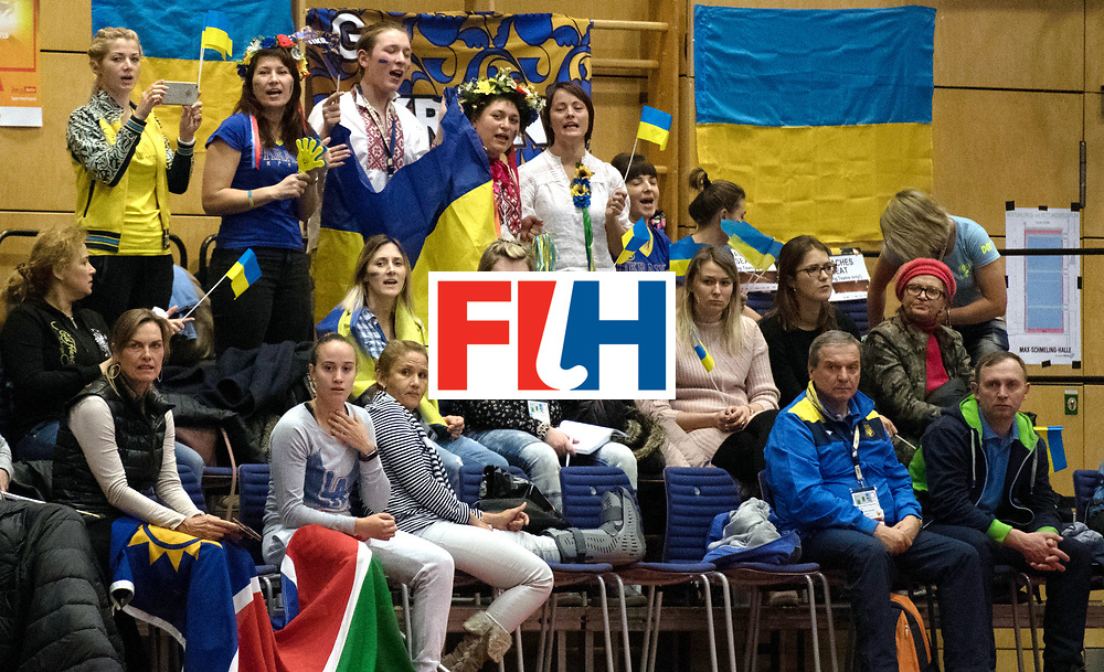 BERLIN - Indoor Hockey World Cup<br /> Namibia - Ukraine<br /> foto: Fans<br /> WORLDSPORTPICS COPYRIGHT FRANK UIJLENBROEK