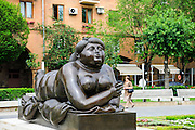 Armenia, Yerevan, Cafesjian Museum of Art and the Cascade. Woman Smoking a Cigarette by Fernando Botero