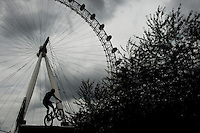 LONDON UK 30TH JULY 2016:  Danny MacAskill Southbank Festival Zone London Eye. The Prudential RideLondon FreeCycle event over closed roads around the city. Prudential RideLondon in London 30th July 2016.<br /> <br /> Photo: Jon Buckle/Silverhub for Prudential RideLondon<br /> <br /> Prudential RideLondon is the world's greatest festival of cycling, involving 95,000+ cyclists – from Olympic champions to a free family fun ride - riding in events over closed roads in London and Surrey over the weekend of 29th to 31st July 2016. <br /> <br /> See www.PrudentialRideLondon.co.uk for more.<br /> <br /> For further information: media@londonmarathonevents.co.uk