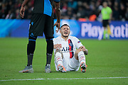 Mauro ICARDI (PSG), seat on the floor, reacted after been hurted during the UEFA Champions League, Group A football match between Paris Saint-Germain and Club Brugge on November 6, 2019 at Parc des Princes stadium in Paris, France - Photo Stephane Allaman / ProSportsImages / DPPI