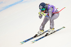 January 19, 2018 - Cortina D'Ampezzo, Dolimites, Italy - Laura Gauche of France competes  during the Downhill race at the Cortina d'Ampezzo FIS World Cup in Cortina d'Ampezzo, Italy on January 19, 2018. (Credit Image: © Rok Rakun/Pacific Press via ZUMA Wire)