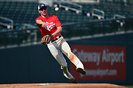 MESA, AZ - FEBRUARY 5:  Gage<br /> Workman makes the out at first during the 2017 Prospect Development Pipeline Premier at Sloan Park on Sunday, February 5,  2017 in Tempe, Arizona. (Photo by Jennifer Stewart/MLB Photos)