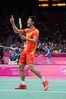Chen Long, China, Beating Denmark's Peter Gade, Olympic Badminton London Wembley 2012