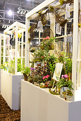 Windowsills on display at the tiny treasures category at the PHS Flower Show. 'Explore America' is the theme for the 2016 edition of the Pennsylvania Horticulture Society Flower Show. The annual show, the largest in its kind, is held at the Pennsylvania Convention Center in Center City Philadelphia PA., and runs till March 13.