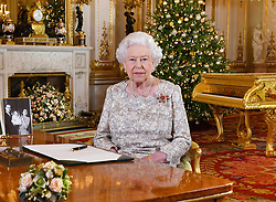 EMBARGOED TO 0001 MONDAY DECEMBER 24, 2018. Queen Elizabeth II after she recorded her annual Christmas Day message, in the White Drawing Room of Buckingham Palace in central London.