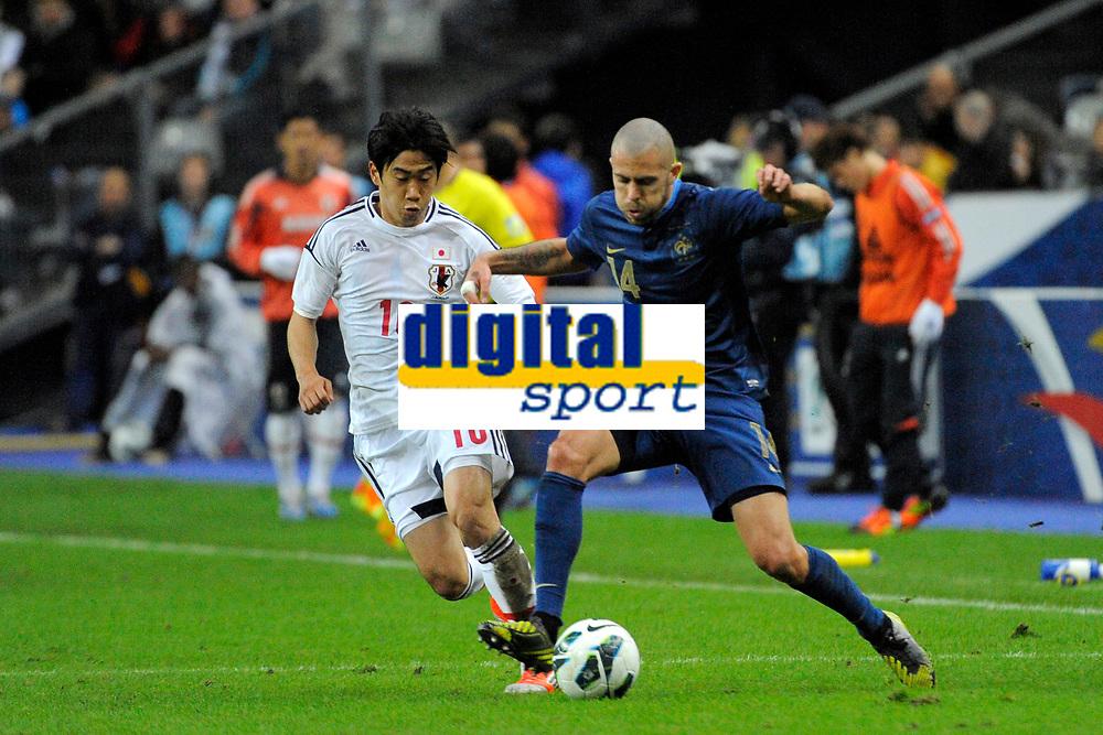 FOOTBALL - FRIENDLY GAME 2012 - FRANCE v JAPAN - STADE DE FRANCE ( SAINT DENIS ) FRANCE - 12/10/2012 - PHOTO JEAN MARIE HERVIO / REGAMEDIA / DPPI - JEREMY MENEZ (FRA) / SHINJI KAGAWA (JAP)