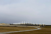 Nederland, Zeeland, Gemeente Veere, 18-03-2016;  Oosterscheldekering (stormvloedkering Oosterschelde) vanaf het eiland Roggenplaat met sluitgat Schaar, Schouwen-Duiveland in het verschiet.<br /> <br /> copyright foto/photo Siebe Swart