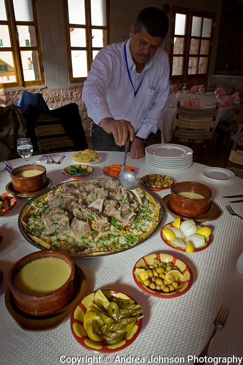 Traditional lamb Mansaf lunch, Petra, Jordan