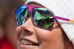 Sara Oblak during the Flying Hill Individual Qualification at 1st day of FIS Ski Jumping World Cup Finals Planica 2013, on March 21, 2012, in Planica, Slovenia. (Photo by Vid Ponikvar / Sportida.com)