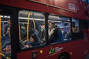Passengers on Bus on regent St.  London. 22 February 2017