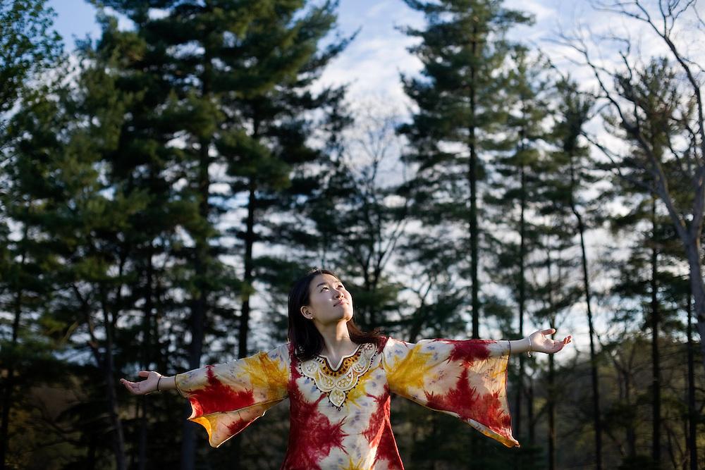 Aki Tanaka, Ohio University specialized studies major in University College.  For Ohio Today Magazine.
