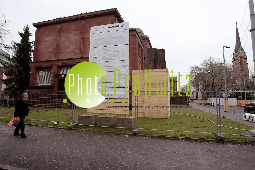 Mannheim. Innenstadt. Kunsthalle. Eingez&permil;unter Bauabschnitt. <br /> <br /> Bild: Markus Proflwitz / masterpress /   *** Local Caption *** masterpress Mannheim - Pressefotoagentur<br /> Markus Proflwitz<br /> Hauptstrafle 131<br /> 68259 MANNHEIM<br /> +49 621 33 93 93 60<br /> info@masterpress.org<br /> Dresdner Bank<br /> BLZ 67080050 / KTO 0650687000<br /> DE221362249