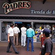 TIJUANA, MEXICO: The San Diego Padres recognize the teams fan base south of the border with a retail Padres store in Tijuana where tickets and apparel are sold.