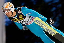 Vincent Sevoije Descombes (FRA) competes during Qualification round of the FIS Ski Jumping World Cup event of the 58th Four Hills ski jumping tournament, on January 5, 2010 in Bischofshofen, Austria. (Photo by Vid Ponikvar / Sportida)