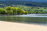 The Kal Beach at the North end of Kalamalka Lake in Vernon, British Columbia, Canada