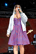 Lily Allen performing in a hoody, Metro Weekender, Get Loaded In The Park, London 2006