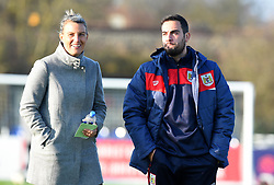 Tanya Oxtoby manager of Bristol City Women and Marco Chiavetta assistant coach for Bristol City Women - Mandatory by-line: Paul Knight/JMP - 17/11/2018 - FOOTBALL - Stoke Gifford Stadium - Bristol, England - Bristol City Women v Liverpool Women - FA Women's Super League 1