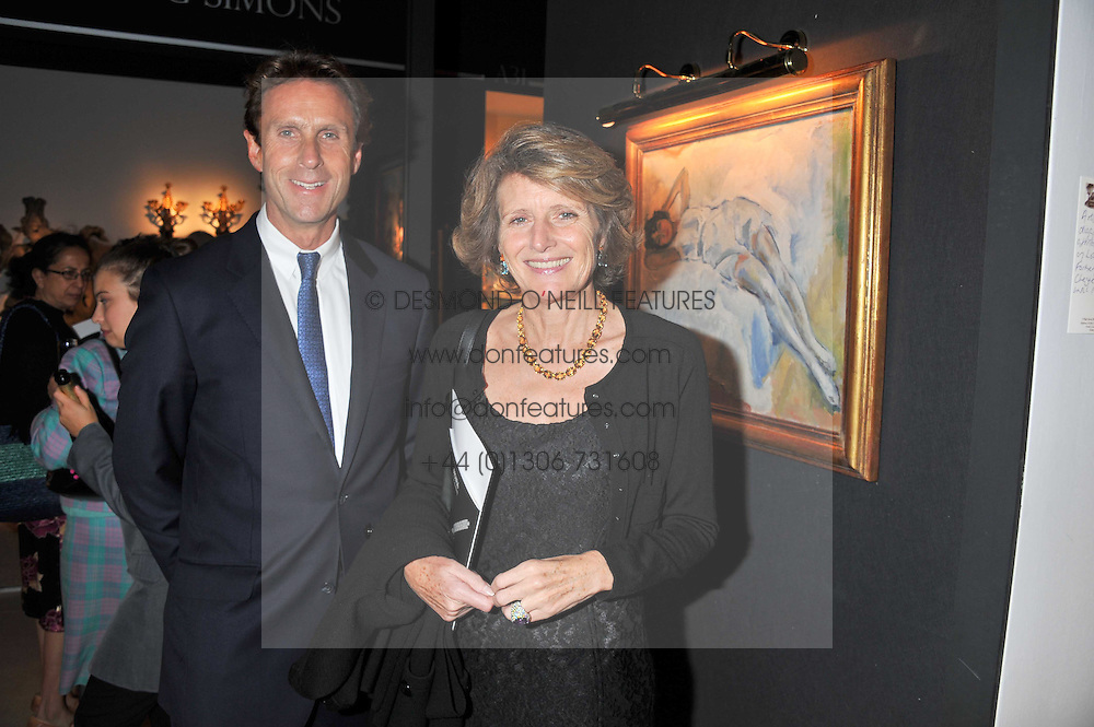 ALAN RUSSELL and LADY KENILWORTH at a preview evening of the annual London LAPADA (The Association of Art & Antiques Dealers) antiques Fair held in Berkeley Square, London on 20th September 2011.