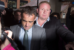 © Licensed to London News Pictures . 06/09/2013 . Manchester , UK . MICHAEL LE VELL (aka Michael Turner ) who plays mechanic Kevin Webster in Coronation Street arrives at Manchester Crown Court this morning ( Friday 6th September 2013 ) . Photo credit : Joel Goodman/LNP