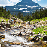 The view from Lunch Creek near Logan's Pass in Glacier National Park, Montana.