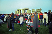 Summer Solstice fans waiting for the sun to rise, UK 2005