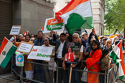 Pro India counter demonstrators also turned out with a small demonstration.<br /> <br /> <br /> Police worked to keep the protesters and counter protesters apart through use of barriers, mounted police and lines of police.<br /> <br /> Richard Hancox   EEm 15082019