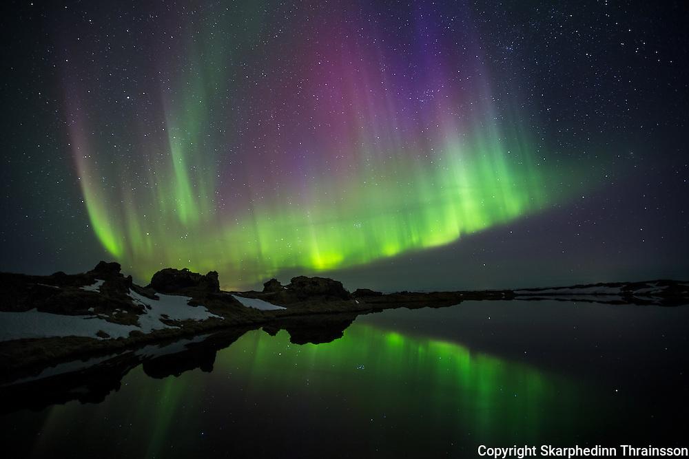 Aurora borealis at Myvatn