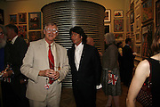 President of the Royal Academy Sir Nicholas Grimshaw  and Lawrence Lewellen Bowen. Summer Exhibition preview party. Royal Academy. Piccadilly. London. 7 June 2006. ONE TIME USE ONLY - DO NOT ARCHIVE  © Copyright Photograph by Dafydd Jones 66 Stockwell Park Rd. London SW9 0DA Tel 020 7733 0108 www.dafjones.com