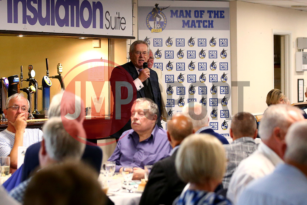 Steve Hamer chairman of Bristol Rovers FC speaks to the Blue Diamond Club as they host a Lunch in the Poplar Insulation Suite at The Memorial Stadium - Mandatory by-line: Robbie Stephenson/JMP - 21/09/2017 - FOOTBALL - Memorial Stadium - Bristol, England - Bristol Rovers v  - Bristol Rovers Blue Diamond Club Lunch