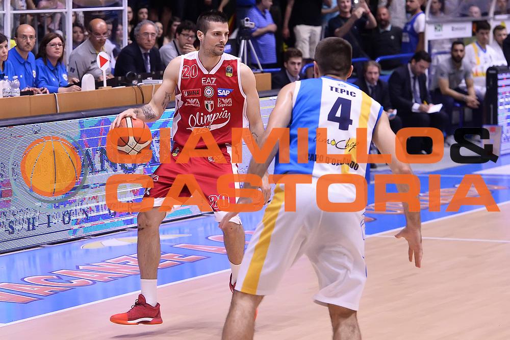 Cinciarini Andrean<br /> Betaland Capo D'Orlando - EA7 Emporio Armani Olimpia Milano<br /> Playoff Gara 4<br /> Lega Basket 2016/2017<br /> Capo D'Orlando 18/05/2017<br /> Foto Ciamillo-Castoria