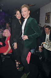 AMY MOLYNEAUX and HENRY CONWAY at The London Cabaret Club Gala Launch Party at The Collection, 264 Brompton Road, London on 8th May 2014.