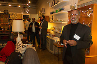 "The Hyde Park Chamber of Commerce held its monthly Chamber Check-In business networking event formerly known as First Thursday this past Thursday February 2nd, 2017 at Modern Cooperative located at 1500 E. 53rd Street. The Chamber Check-In business networking events are held every first Thursday of the month are free and open to the public.<br /> <br /> 9862, 9864 – Executive Director of the Hyde Park Chamber of Commerce, Wallace Goode welcomes everyone to the event.<br /> <br /> Please 'Like' ""Spencer Bibbs Photography"" on Facebook.<br /> <br /> All rights to this photo are owned by Spencer Bibbs of Spencer Bibbs Photography and may only be used in any way shape or form, whole or in part with written permission by the owner of the photo, Spencer Bibbs.<br /> <br /> For all of your photography needs, please contact Spencer Bibbs at 773-895-4744. I can also be reached in the following ways:<br /> <br /> Website – www.spbdigitalconcepts.photoshelter.com<br /> <br /> Text - Text ""Spencer Bibbs"" to 72727<br /> <br /> Email – spencerbibbsphotography@yahoo.com"