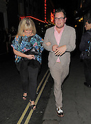 09.JULY.2012. LONDON<br /> <br /> ALAN CARR AND SALLY LINDSAY SPOTTED ENJOYING A NIGHT OUT TOGETHER IN COVENT GARDEN.<br /> <br /> BYLINE: EDBIMAGEARCHIVE.CO.UK<br /> <br /> *THIS IMAGE IS STRICTLY FOR UK NEWSPAPERS AND MAGAZINES ONLY*<br /> *FOR WORLD WIDE SALES AND WEB USE PLEASE CONTACT EDBIMAGEARCHIVE - 0208 954 5968*